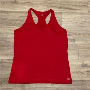 ALO red racerback tank top
